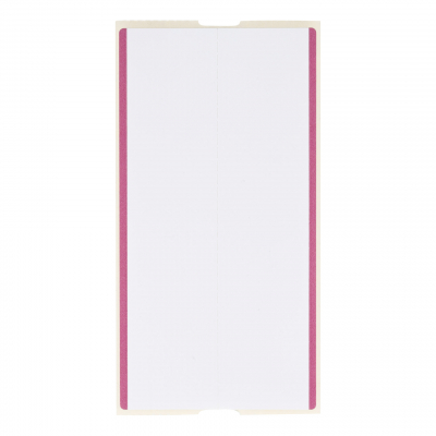 CoatCheck zelfklevende bagagelabels 14x160 tickets in een doos, wit/paars