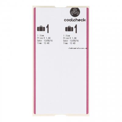 CoatCheck OneFive Ticketprinter bagagelabel