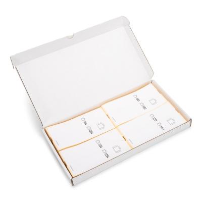 Karton mit 500 selbstklebende Gepäckanhänger vorgedruckt, Serie 1001-1500