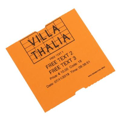 Coatcheck Eintrittskarten, vier Farben