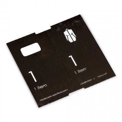 1000 vorgedruckte Garderobentickets, schwarz