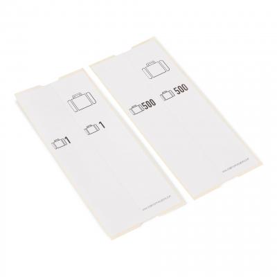 500 selbstklebende Gepäckanhänger vorgedruckt, Serie 501-1000