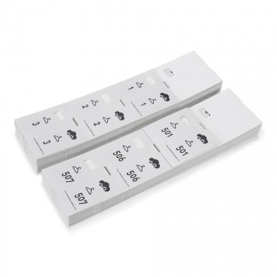 Sonderangebot: 5x1000 Garderobenmarken  Papier