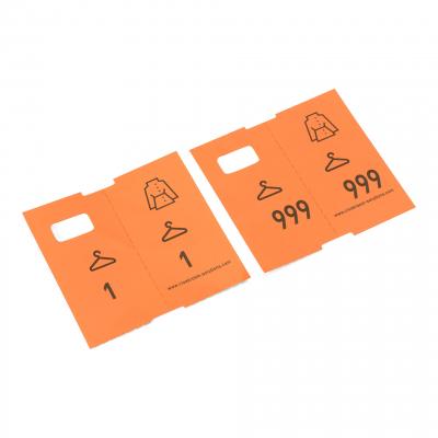 1000 vorgedruckte Garderobentickets, orange