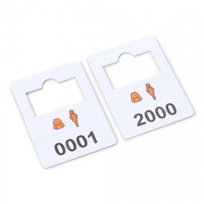 plastic garderobe nummers complete set 1-2000