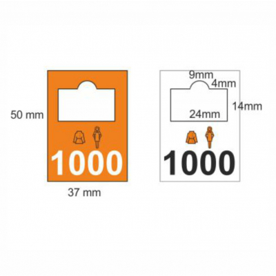 Garderobenmarken Kunststoff 0201-0300