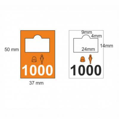 Garderobenmarken Kunststoff, Komplettes Set 1001-2000