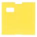 Coatcheck Garderobentickets, gelb