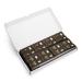 1000 vorgedruckte Garderobenmarken, schwarz mit Golddruck, ein Karton mit Zahlen 1 bis 1000