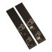 500 selbstklebende Gepäckanhänger vorgedruckt, Schwarz mit Golddruck, Serie 001-500