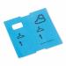 1000 vorgedruckte Garderobenmarken blau