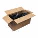 100 Kleiderbügel aus Kunststoff, Schwarz
