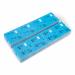 1000 vorgedruckte Garderobentickets, blau