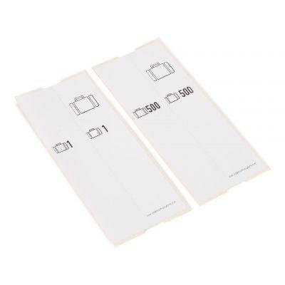 500 selbstklebende Gepäck-Etiketten vorgedruckt, Serie 001-500