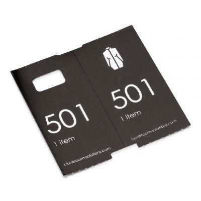 Luxus Garderobentickets, voorgedruckt, 501-1000 schwarz