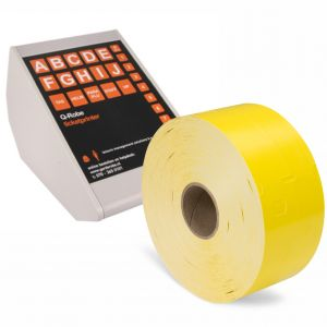 Q-Robe compatible cloakroom tickets yellow 6 rolls