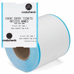 CoatCheck Konzert/Eintrittskarten zweiteilig, 14x260 Tickets, weiß blau